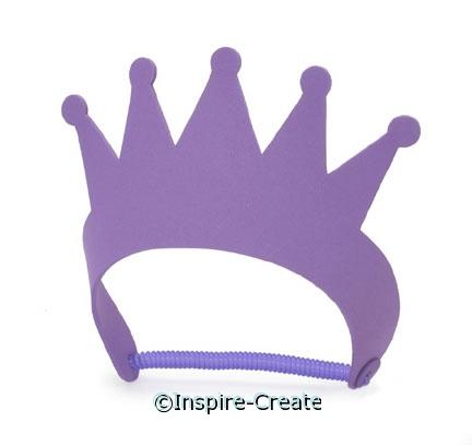Foamies Purple Tiara's (48)*