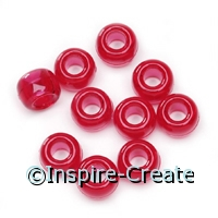 Transparent Red Pony Beads (720)*