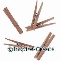 Large Natural Clothespins (24)*