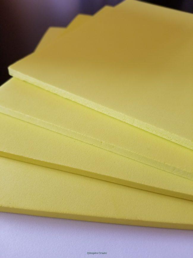 Foamies 6mm Yellow 9x12 Sheets (4)*