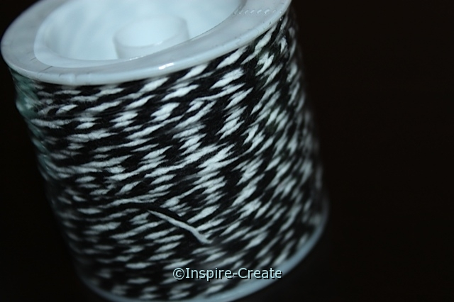Black/White Twist Baker\'s Twine 50 yds*