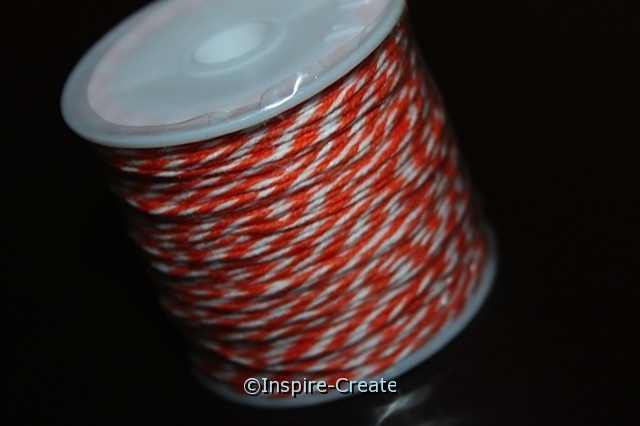 Orange/White Twist Baker's Twine 50 yds.*