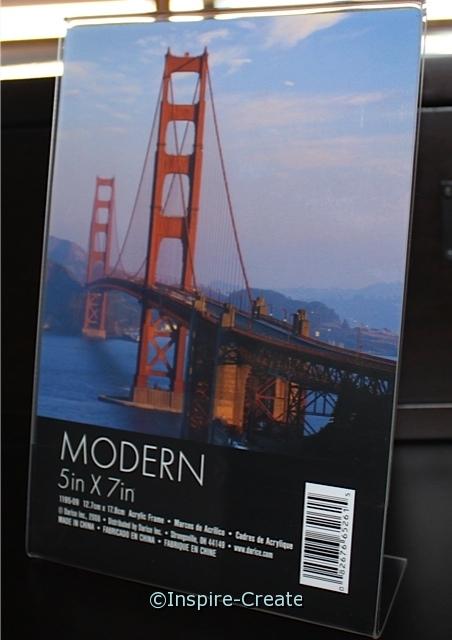 Bent Acrylic Vertical Frame 5x7