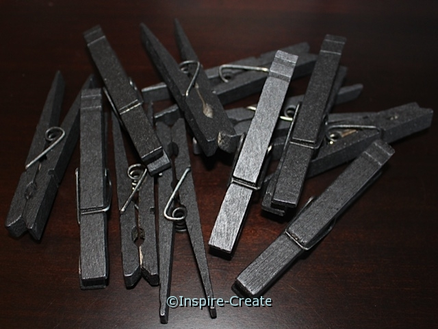 Large Black Clothespins (12)*