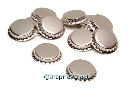 Chrome Bottle Caps (20)*