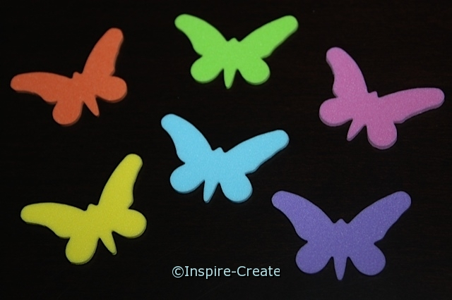Small Butterfly Foam SHAPES (Bulk 216)*