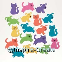 Foamies Cat & Dog Stickers (160)*