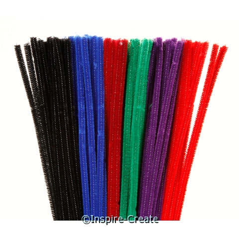 Jewel Color Assorted Chenille Stems (100)*