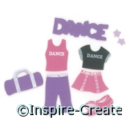 Foamies Dance Stickers (60)*