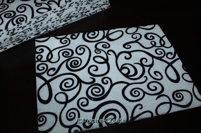 Black & White Swirl 9x12