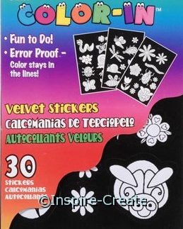 Flower & Bug Fuzzy Velvet Sticker Book*