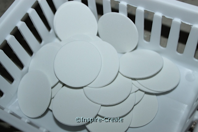 "1 1/2"" White Foam Circle SHAPES (Bulk 240) ~All Sales Final"
