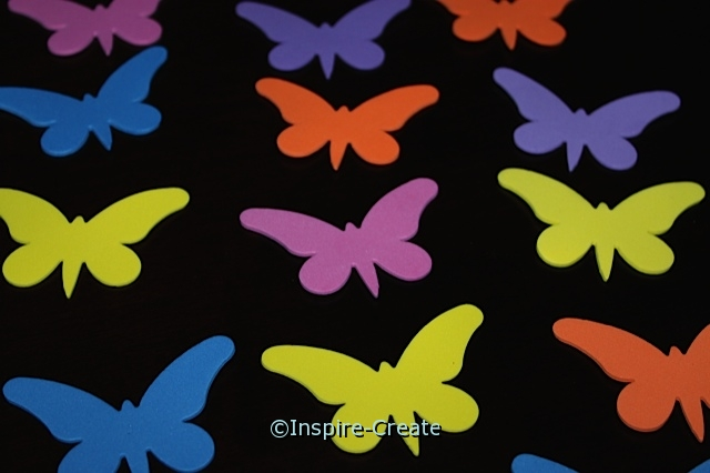 Medium Butterfly Foam SHAPES (Bulk 120) ~All Sales Final