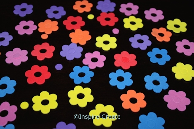 Small Button Flower Foam SHAPES (Bulk 216) ~All Sales Final