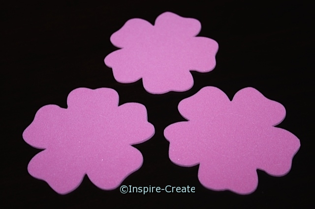 Hot Pink Flower Foam SHAPES (Bulk 90) ~All Sales Final