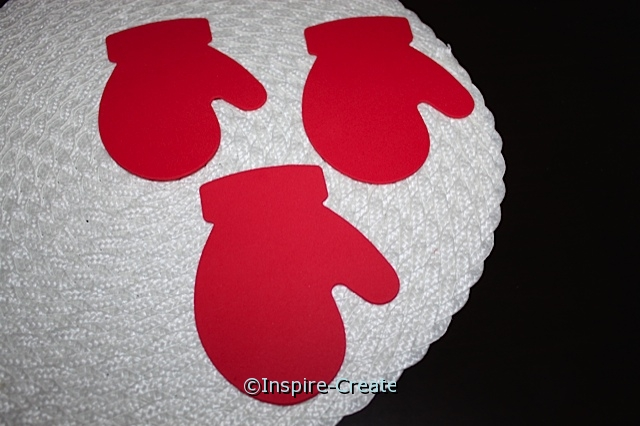 Large Red Mitten Foam SHAPES (Bulk 60)*