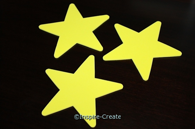 Lg Yellow Star Foam SHAPES (Bulk 60)*