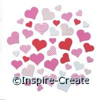 Foamies Pattern Heart Stickers (90)*