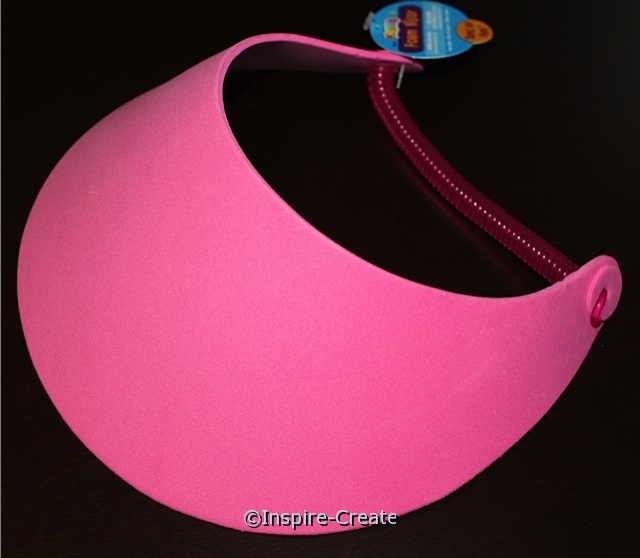Foamies Hot Pink Visors (48)*