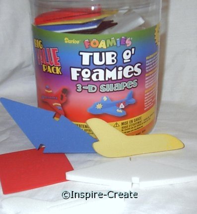 Foamies Jet Plane Bucket Makes 22*