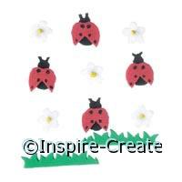 Ladybug and Flower Sticker Sheet*