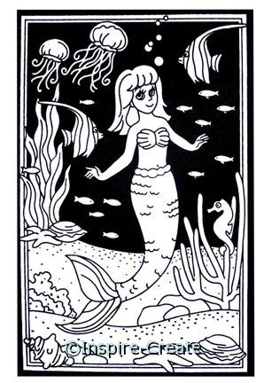 Mermaid Velvet Poster 6x9