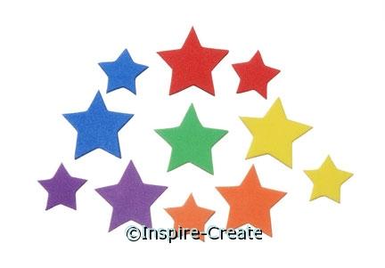 Foamies Mini Star Stickers (120)*
