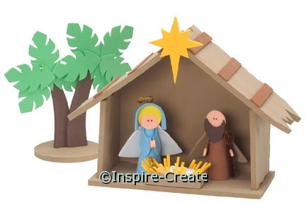 Foamies Nativity Ornament Bucket (Makes 30)*