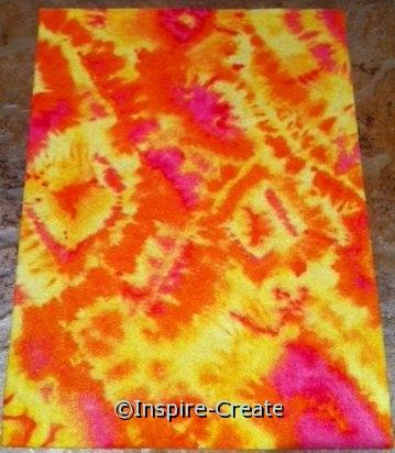 Orange Tie Dye 9x12