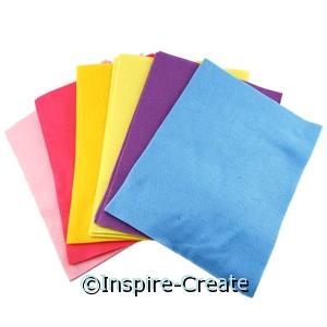 Pastel Assorted 9x12 Soft Felt Sheets (25)*