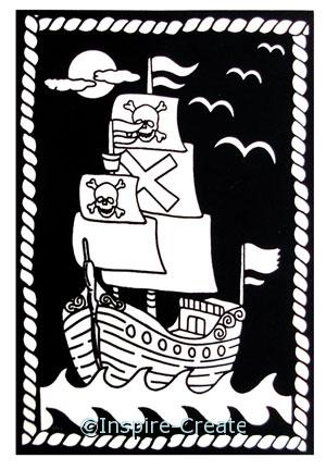 Pirate Ship Velvet Poster*