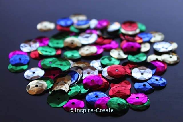 10mm Multi Sequins (120 pcs) w/Tin*