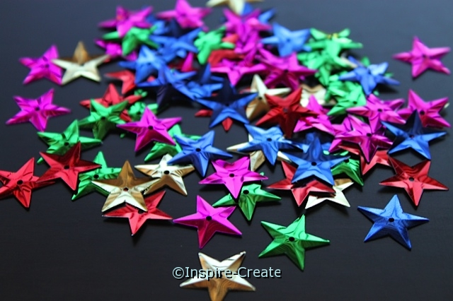 Multi Star Sequins (50 pcs)*