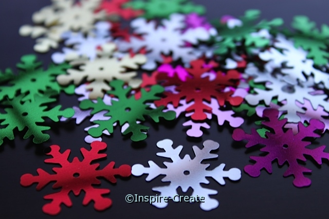 Multi Snowflake 24mm Sequins (30 pcs) w/ Tin*