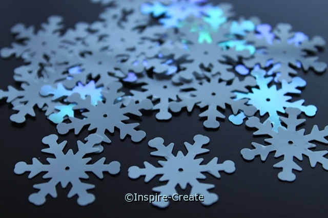 White Snowflake 24mm Sequins (30 pcs) w/ Tin*