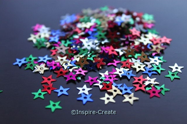 Tiny Multi Star Sequins (400 pcs) w/ Tin*