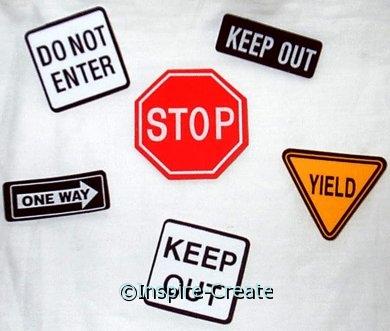 Foamies Traffic Sign Stickers (42)*