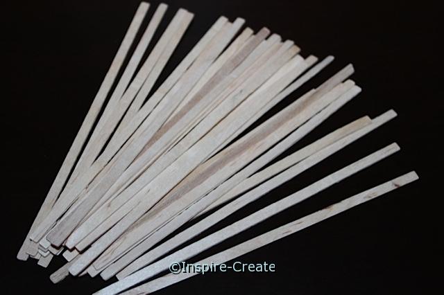 Thin Wood Craft Sticks  5 1/2