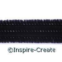 Black Chenille Stems (100)*