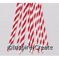 Red & White Twist Chenille Stems (12)*