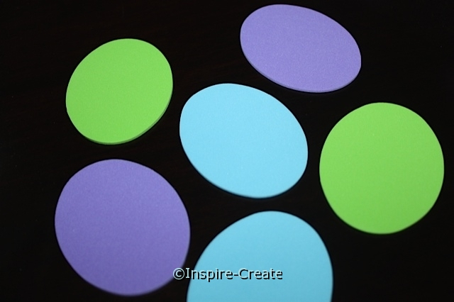 Small Spring Color Oval Foam Shapes (Bulk 90)*