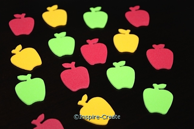 Small Apple Foam SHAPES (Bulk 216)*