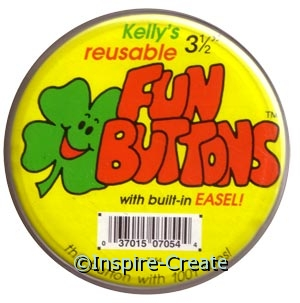 Kelly's Large Fun Buttons 3 1/2