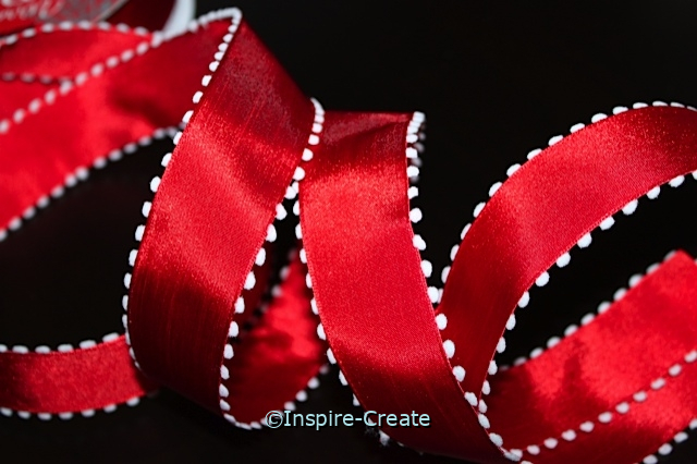 Red & White Wire Ribbon (10 feet)*