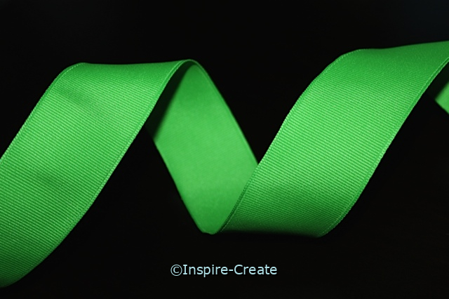 Spring Green Grosgrain Wire Ribbon (10 feet)*