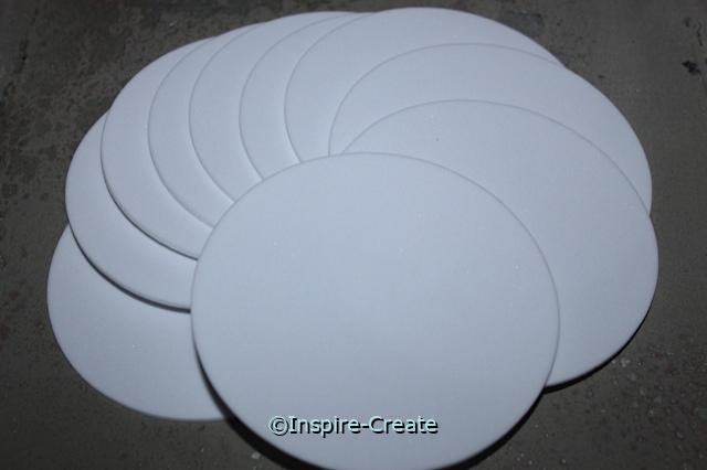 "Foam 4"" White Circle SHAPES (Bulk 80)*"