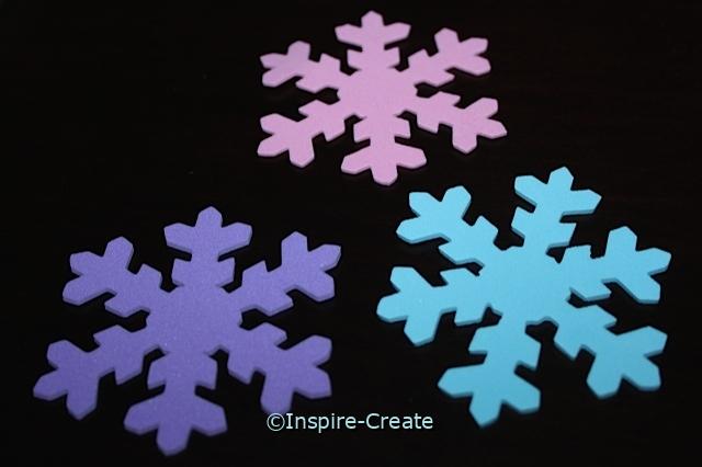 Foam Pastel Asst Snowflake SHAPES (Bulk 75)*