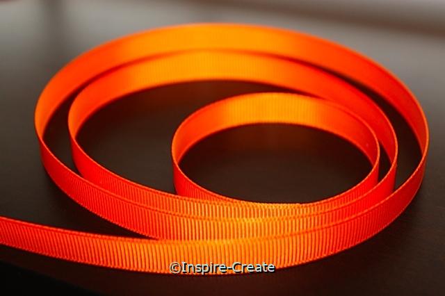 "Tangerine 3/8"" Grosgrain Ribbon (100 yards)*"