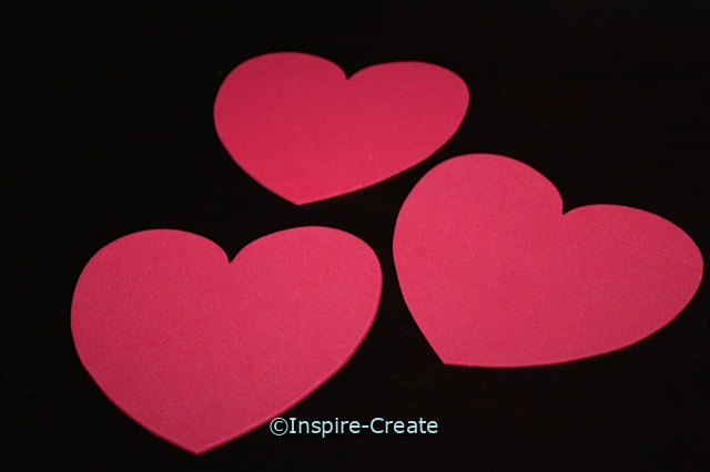 Foam Large Red Heart Shapes (Bulk 60)*