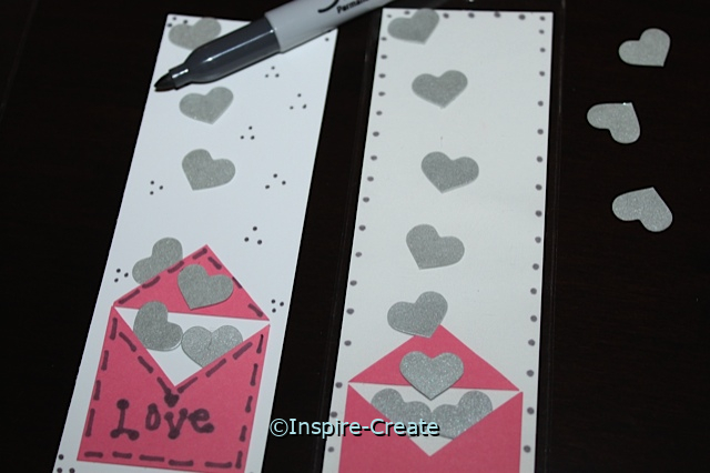 Heart Bookmarks with Sharpies